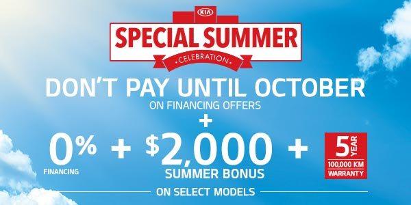 Kia Special Summer Offer
