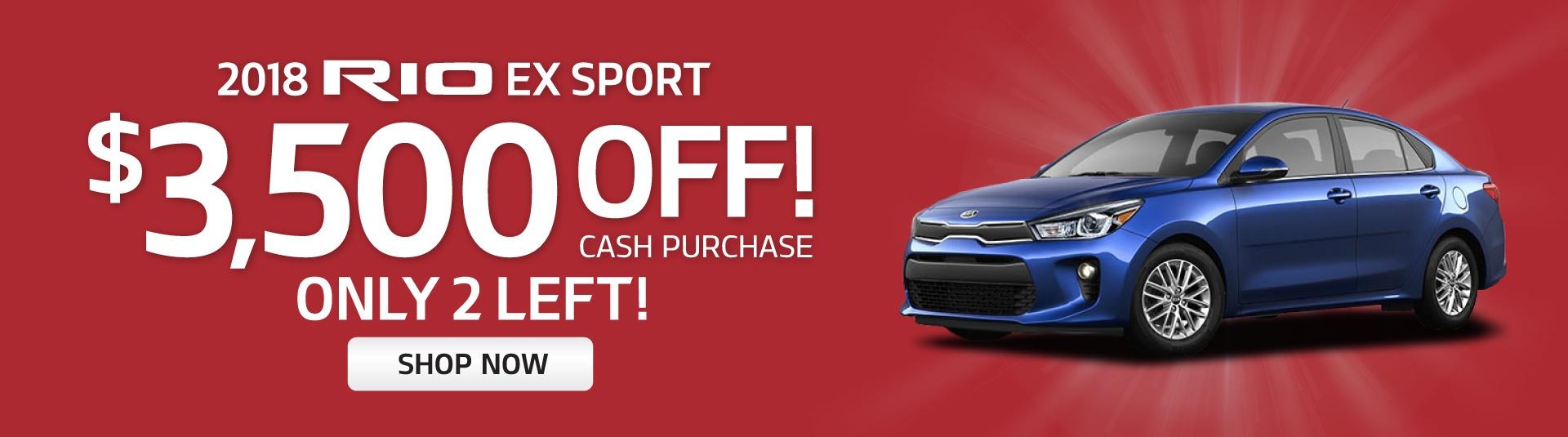 2018 Kia Rio Ex Sport $3500OFF Cash Rebate