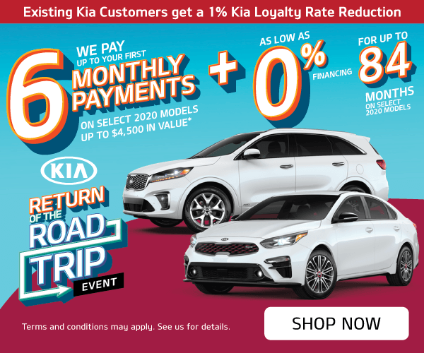 Mississauga Kia Return of the Road Trip We pay 6 months