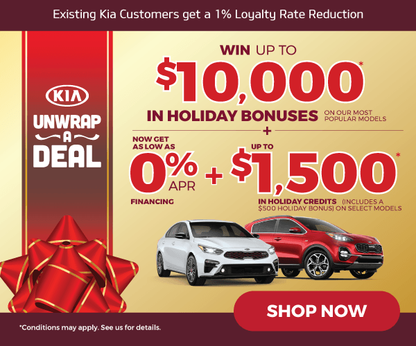 Kia Canada Unwrap A Deal New Car Special - Mississauga Kia