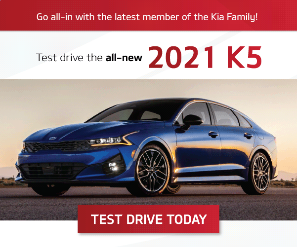 Mississauga Kia - Test Drive the 2021 Kia K5 - Kia Optima Rebrand
